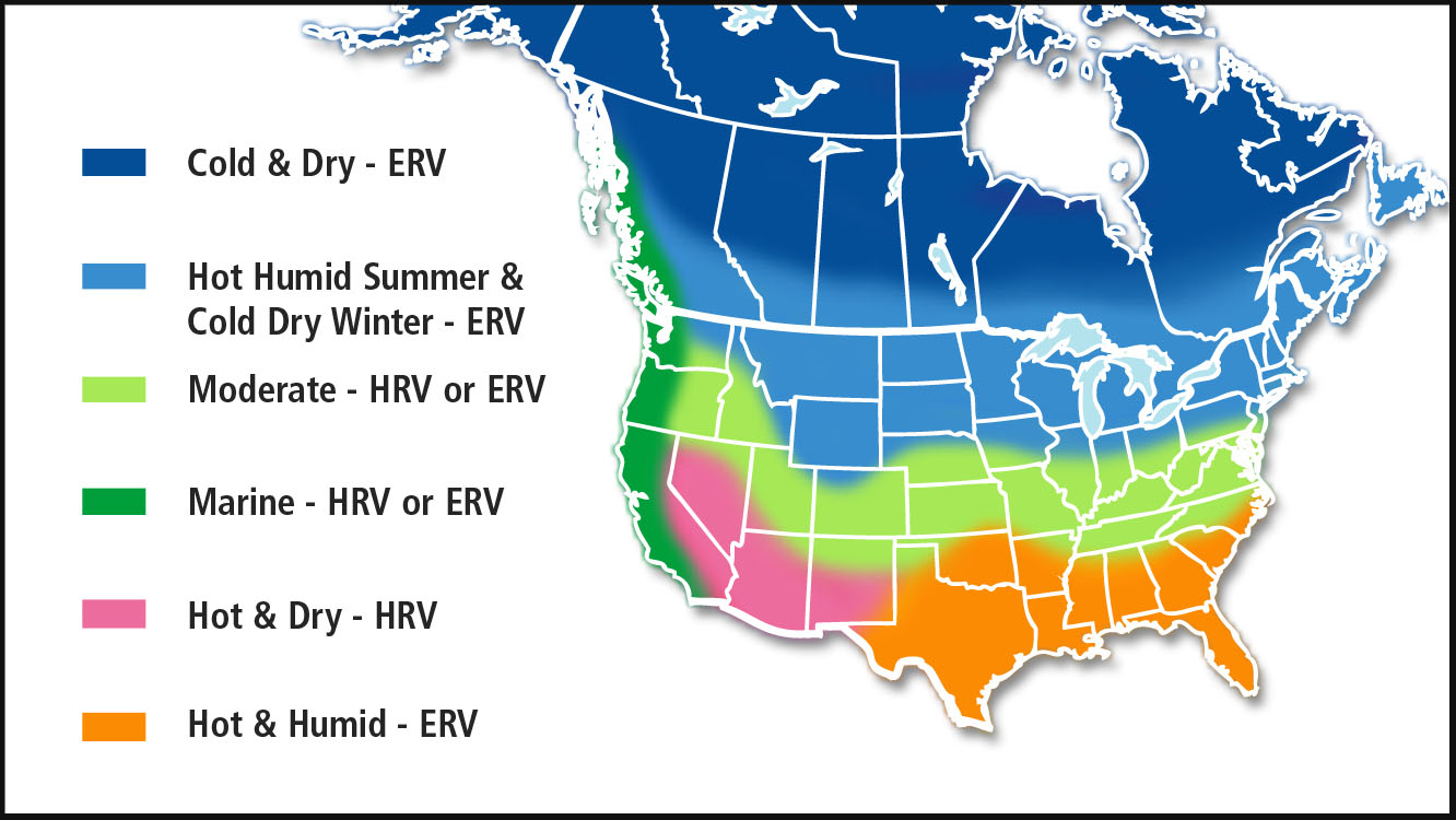 Residential Heat Energy Recovery Ventilation Systems Portland - Us-humidity-map